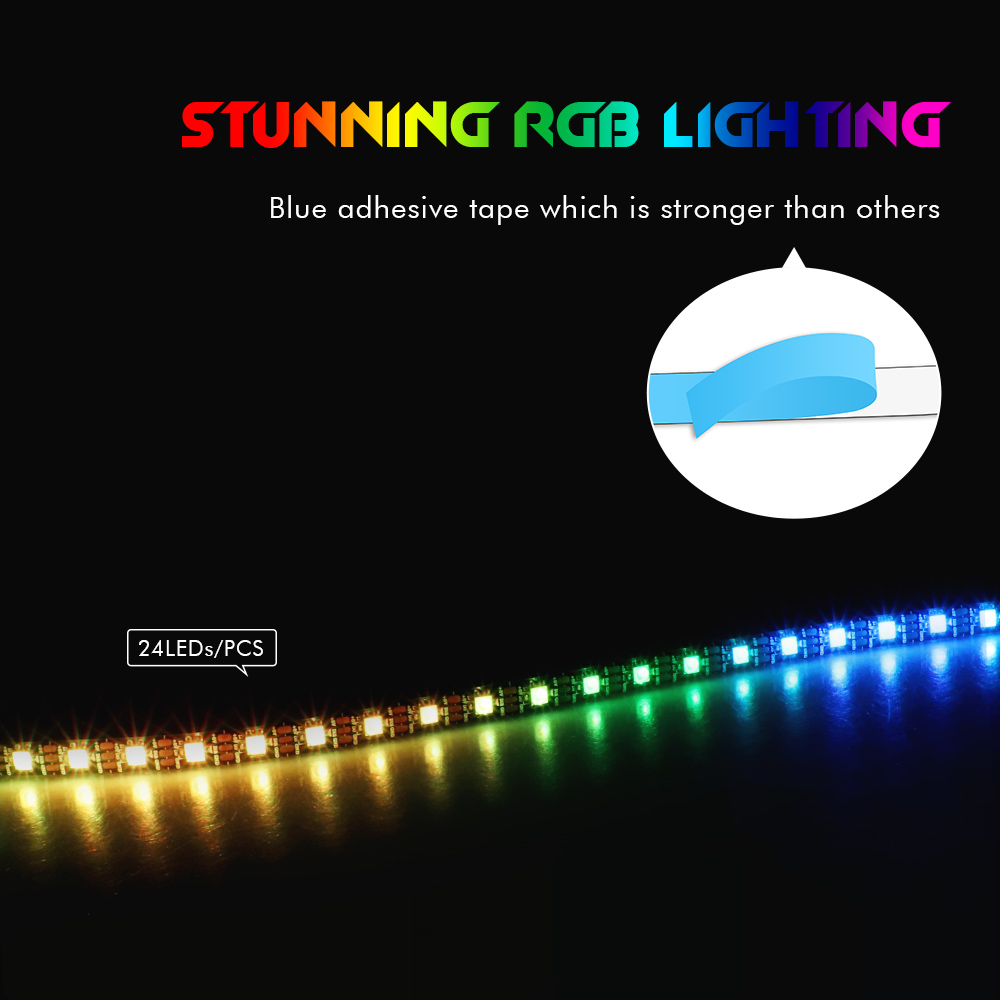 cheapest RGB Led Individually Addressable Strip Light WS2812B IP65 For 3pin 5V ADD Header For Corsair iCUE Interface Computer Motherboard