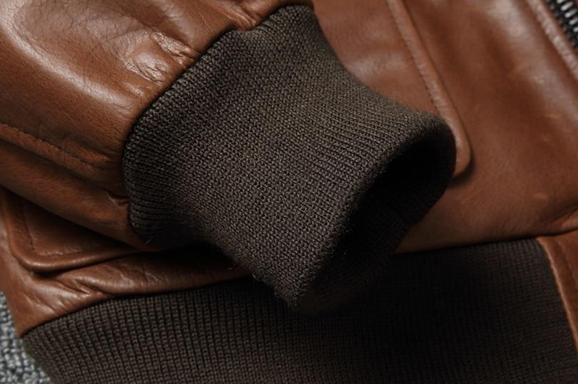 Hc1e240e3ce0544f888a4d4910983a942O Free shipping.Warm Mens classic genuine leather Jacket,quality men's vintage flight jackets.Eur Plus size Casual A2 coat.sales