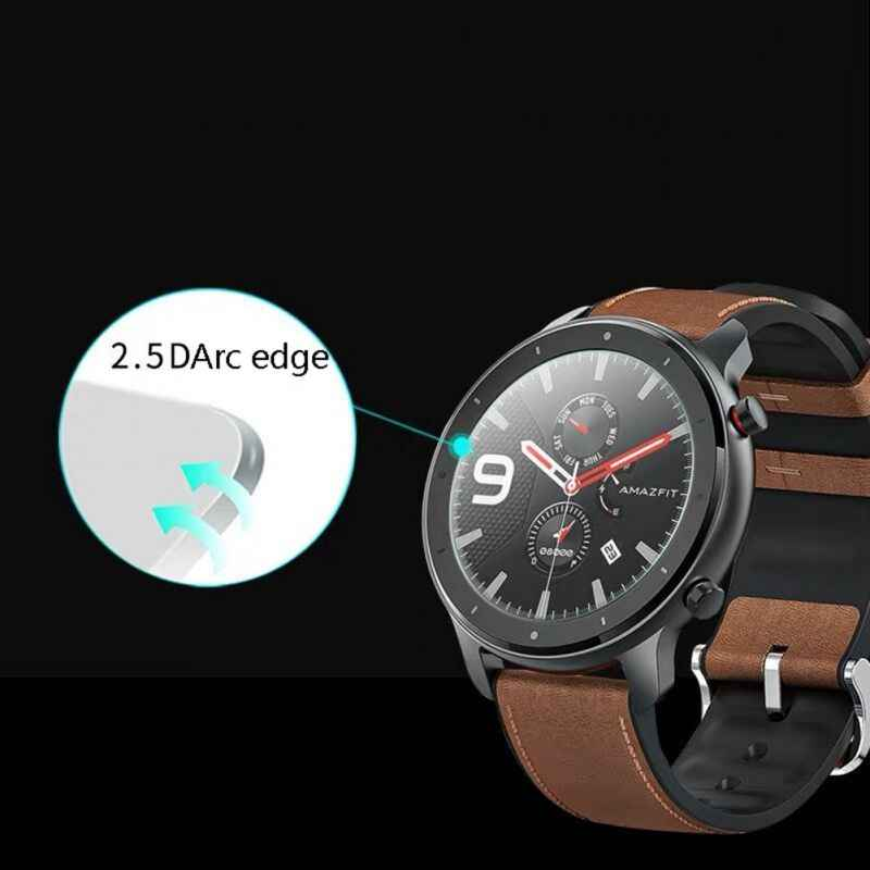 Clear Film Tempered Glass Screen Protector for AMAZFIT GTR Smart Watch 42/47mm Smart watch Protective accessories