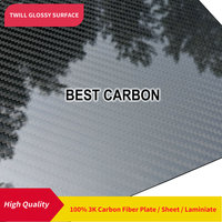Free shipping 500mm x 500mm Twill Glossy surface 100% Carbon Fiber Plate ,cfk plate, rigid plate, sheet, laminiate