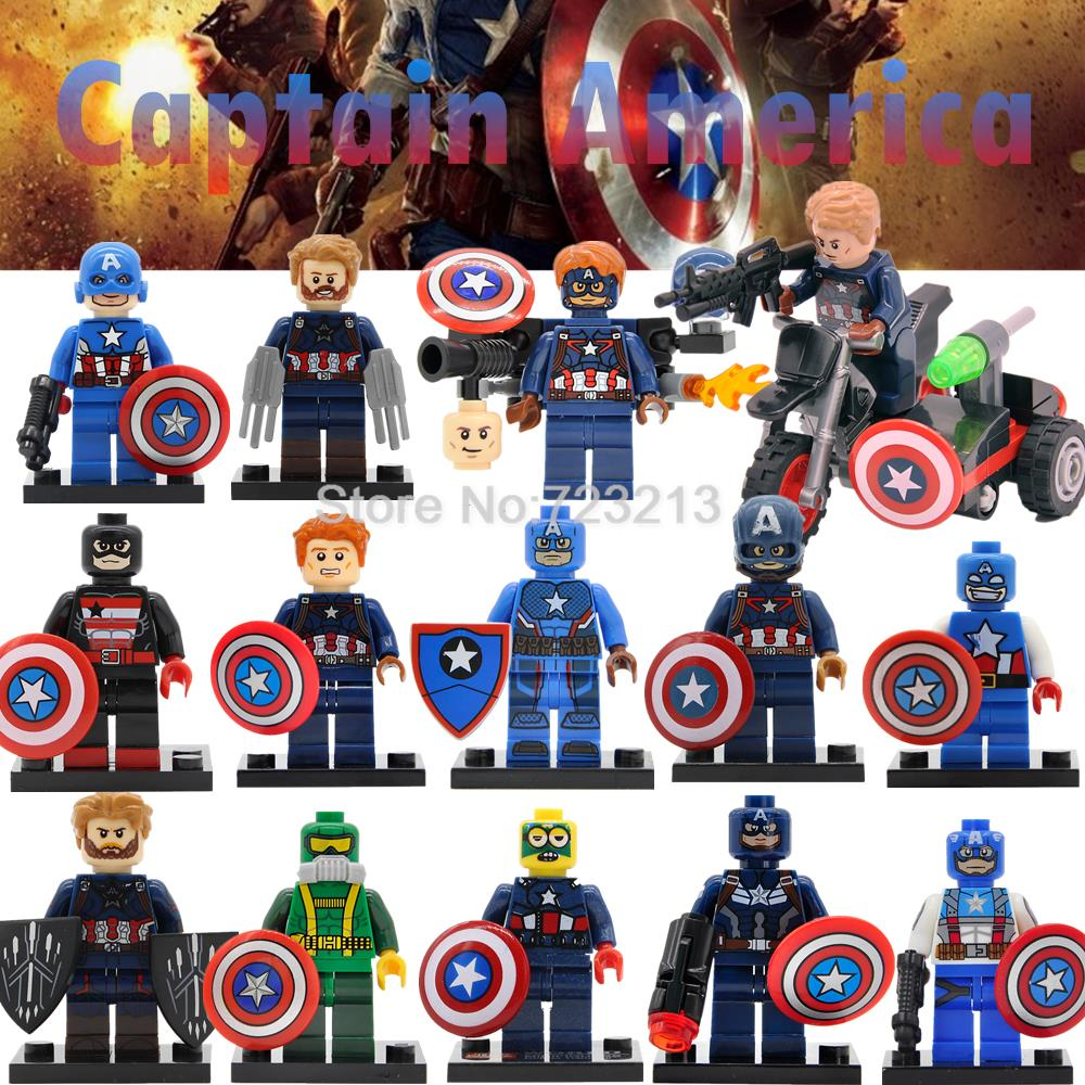 Single Sale Captain America Figure Marvel Super Hero Hydra Agent Avengers Endgame Building Blocks Sets Model Bricks Toys Legoing