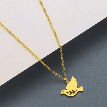Todorova Stainless Steel Curved Crescent Moon Pendant Necklace OX Double Horn Necklaces for Women Delicate kolye Jewelry 5