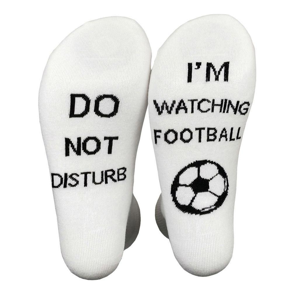Unisex Funny Crew Socks Do Not Disturb I Am Watching Rugby Football Golf Hosiery