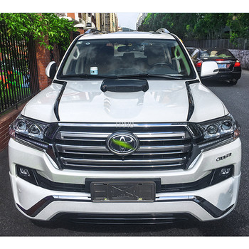 Black Warrior Accessories for Toyota Land Cruiser 200 LC200 2016 2017 2018 2019 Car Front and Rear Trim