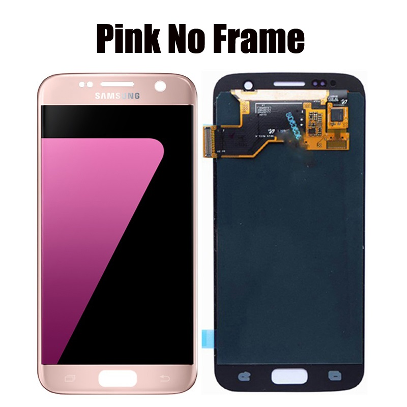 """ORIGINAL 5.1"""" SUPER AMOLED LCD with Frame for SAMSUNG Galaxy S7 Flat Display G930 G930F Touch Screen Digitizer"""