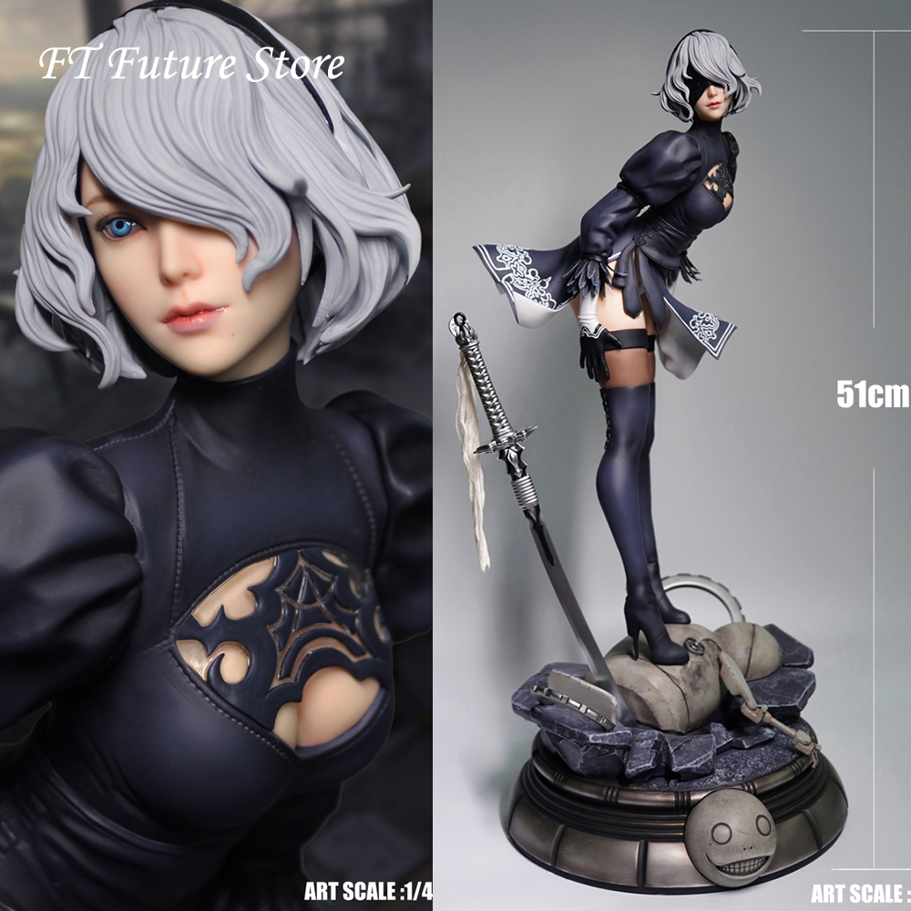 MLS002 1/4 PS4 Game NieR Automata 2B YoRHa No. 2 Type Statue Action Figure Model 51 Cm For  Fans Gifts