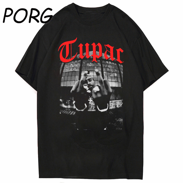 Tupac 2pac Black Tshirt Shakur Hip Hop T Shirts Makaveli Rapper Notorious Big Young Thug Koba La J Cole Hiphop Rap Streetwear 2