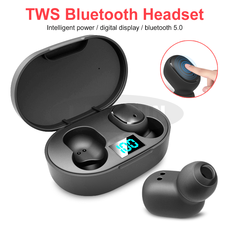 <font><b>TWS</b></font> <font><b>Wireless</b></font> Bluetooth 5.0 Earphone Mini IPX5 Bluetooth Sports Headphone with Micphone HIFI Stereo Noise Reduction E6S Earbuds image