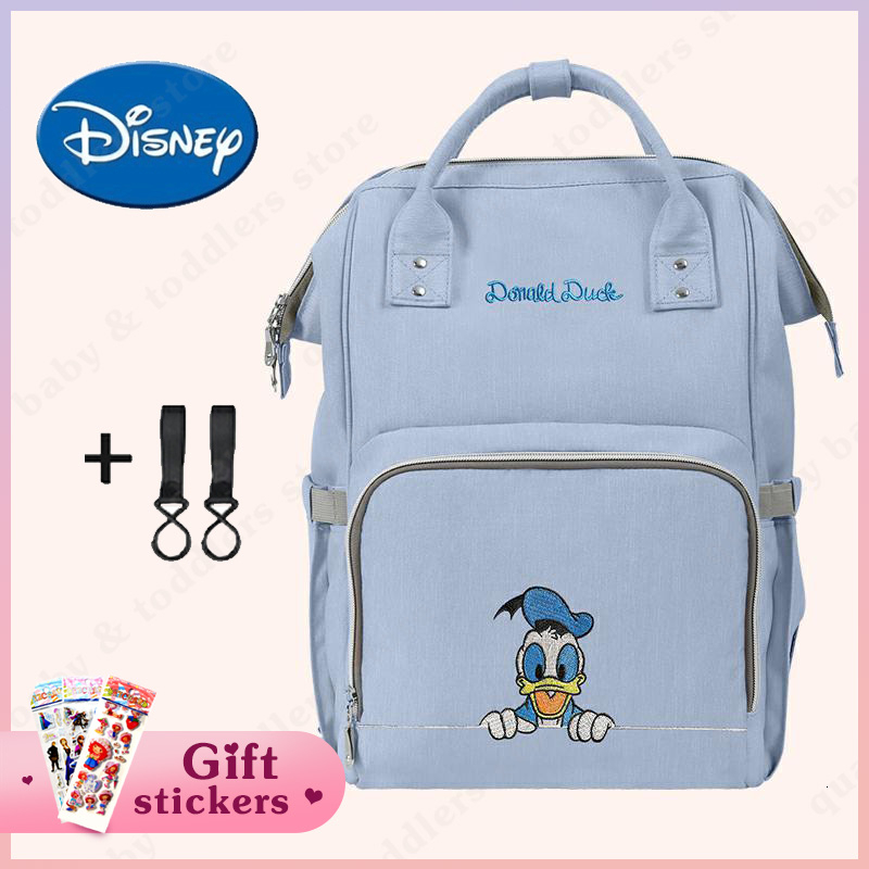 Disney Fashion Diaper Bag Mummy Maternity Nappy Bag Large Capacity Baby Care Nursing Bag Mom's Travel Backpack Infant Stuff