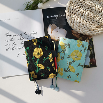 2020 Summer Flowers Hand Made Classic Floral Cloth Joint Color Fashion Journal Cover For Standard A5/A6 Fitted Paper Book multiple colors simulated leather cover a5 a6 suitable for hobonichi and other standard journal sheets