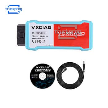VXDIAG VCX NANO bezprzewodowy Wifi skaner diagnostyczny OBD2 dla Mazda forford wielojęzyczne OBDII Auto narzędzie diagnostyczne tanie i dobre opinie TruckProg Diagnosis 0 5kg Plastic Analizator silnika Latest version 15cm TP0449 10cm for VXDIAG OBD2 diagnostic scanner