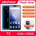 Ulefone T2 смартфон с восьмиядерным процессором Helio P70  ОЗУ 6 ГБ  ПЗУ 128 ГБ  4200 мАч  6 7