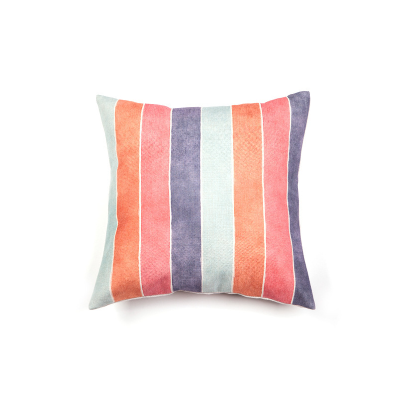 Drop Shipping Colour Geometric Pillow Cover Customize Cotton Linen Throw Cushion Cover Bedside living Room Sofa Home Art Decor in Cushion Cover from Home Garden