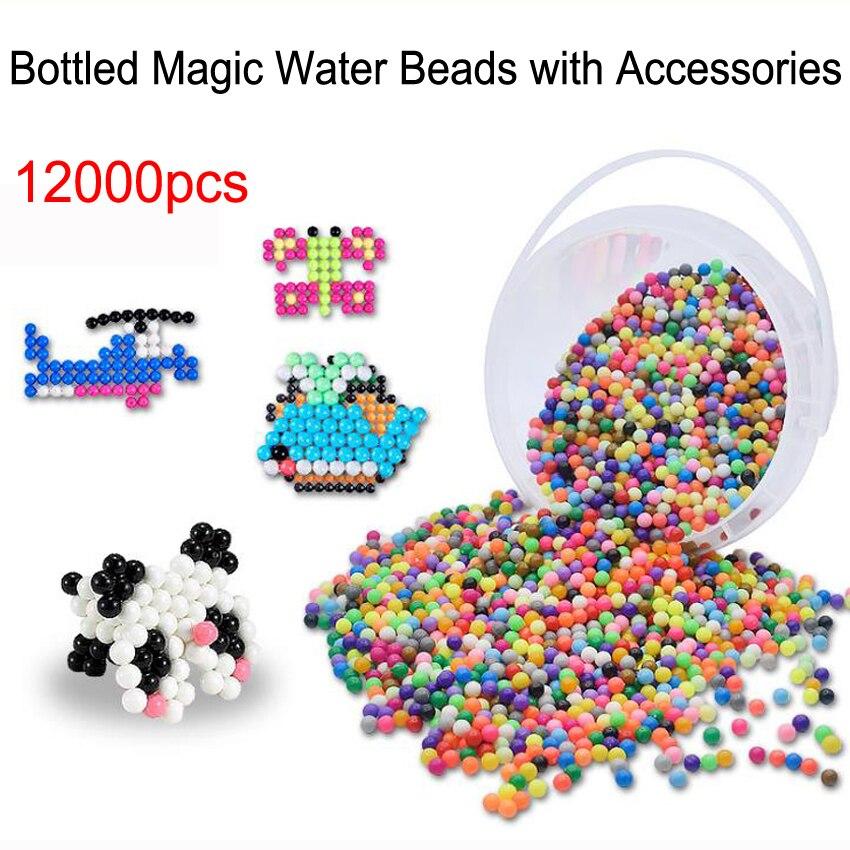 12000 pièces magique Puzzle jouets brouillard d'eau perle ensemble avec accessoires bricolage artisanat à la main collants perles jouets éducatifs enfants bons cadeaux