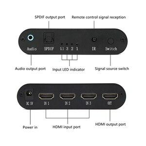 Image 2 - Wiistar SPDIF/Cáp Quang Âm Thanh TOSLINK Âm Thanh 3X1 Switcher Quang Kỹ Thuật Số HDMI Chuyển Đổi Bộ Chia Bộ Mở Rộng Với IR Remote Contro