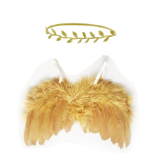 Boys Girls Newborn Baby Leaf Headband Artificial Feather Gift Angel Wings Birthday Art Cute Soft Clothing Party Photo Prop Set