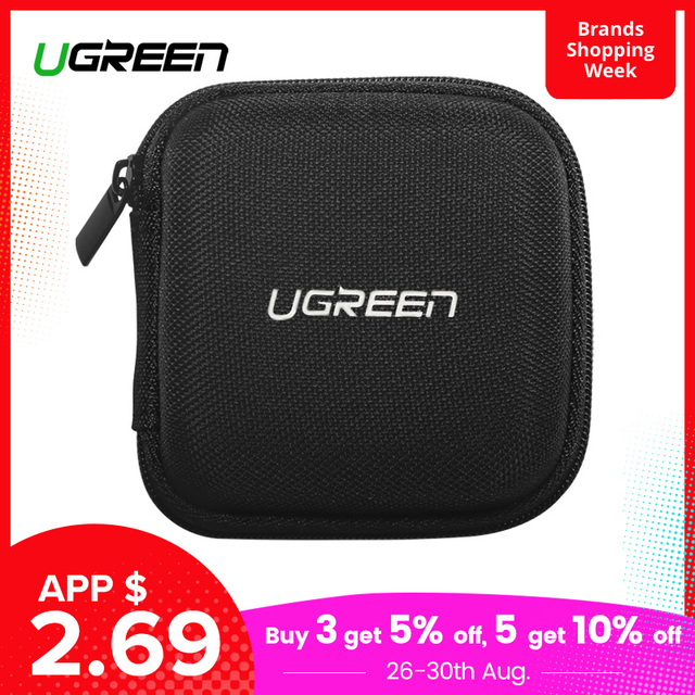 Ugreen Earphone Case Hard Headphone Bag For Airpods Earpods Sennheiser Ear Pads Wireless Bluetooth Earphone Accessories