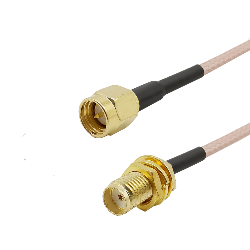 SMA Male To SMA Female Pigtail RG316 Low Loss RF Cable Plug To Jack Connector For WIFI FPV Antenna GSM, LAN 0-6Ghz 1pcs ALLiSHOP