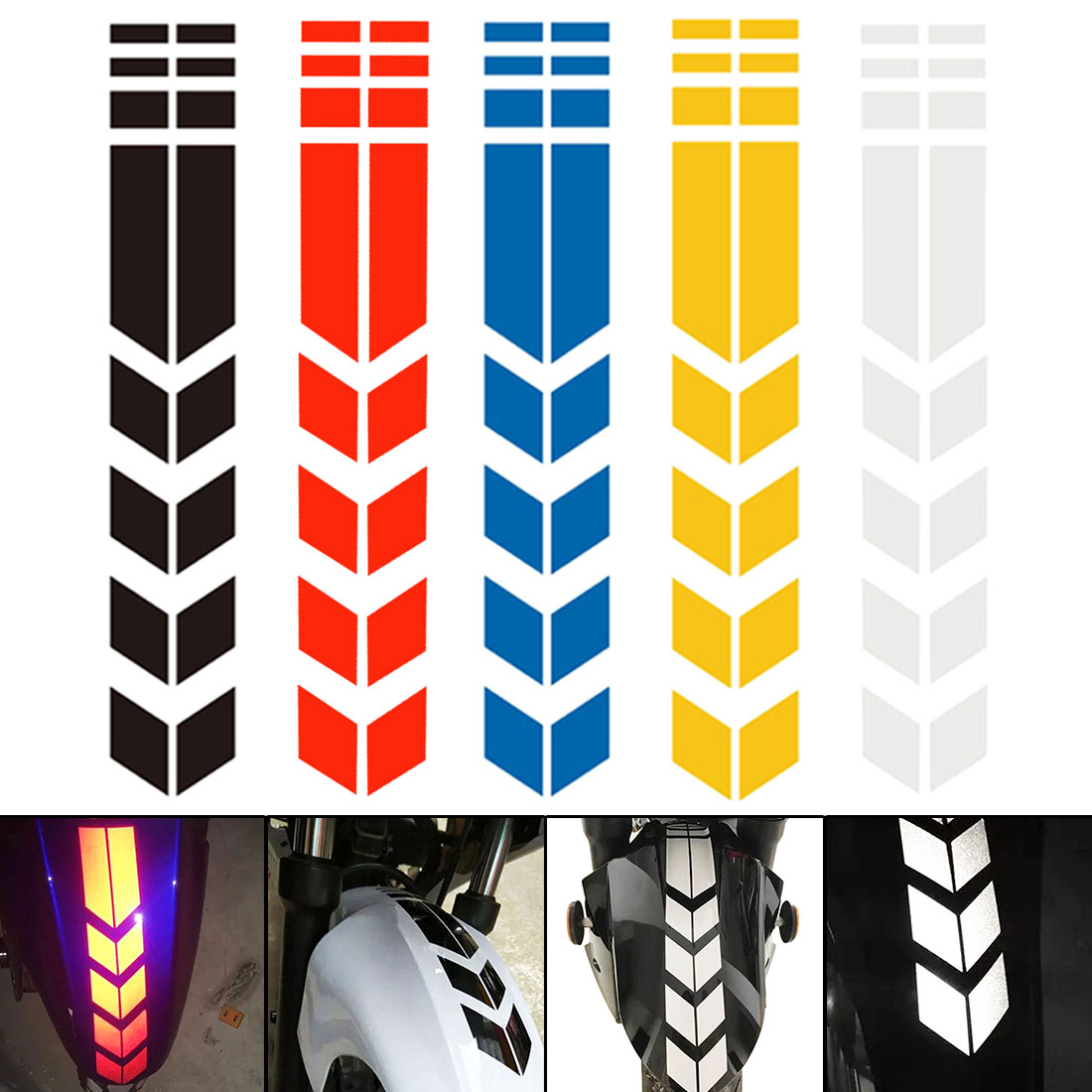 Motorcycle Reflective Sticker  Stickers And Decals Motorcycle Accessories Sticker On Bike Bicycle Fender Decoration