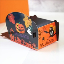 50PCS/Lot Halloween Theme Series Snack Bag Packaging Supplies Kraft Paper Holiday Baking Food Grade Candy