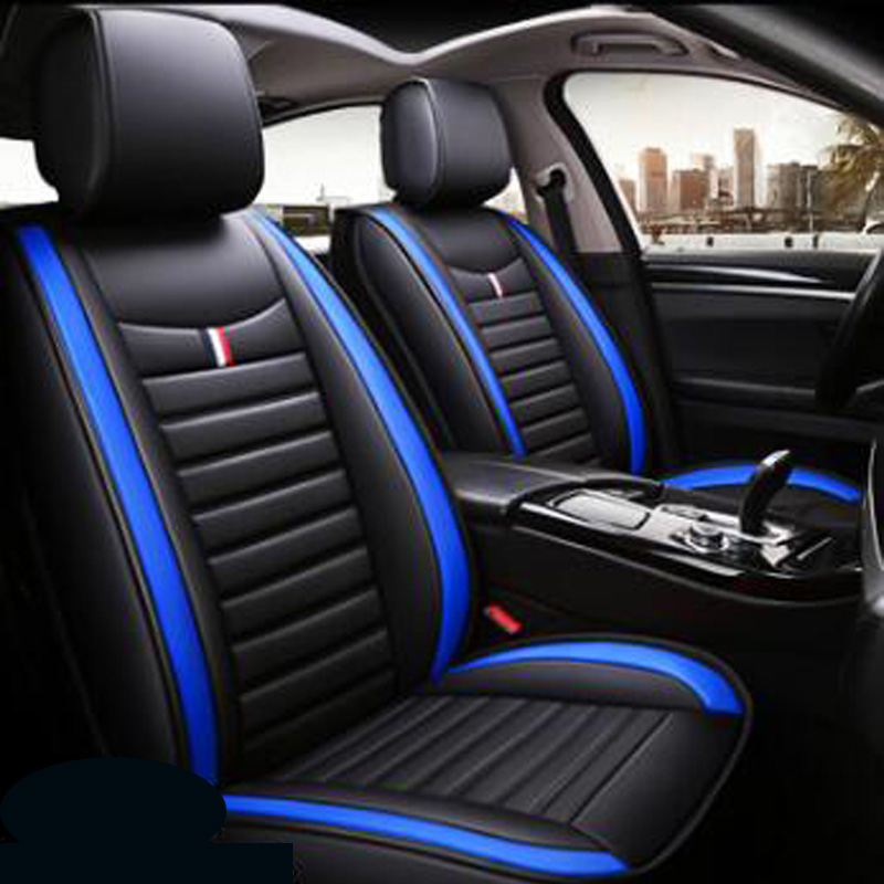 2019 brand new pu leather not moves 4 seasons car seat cushion Fashion universal seat covers non slide auto Seat Covers