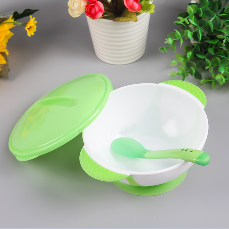 Baby Spoon Bowl Learning Dishes Food Bowl Temperature Sensing Spoon Baby Tableware Baby Eco-friendy Food Baby Feeding Bowls