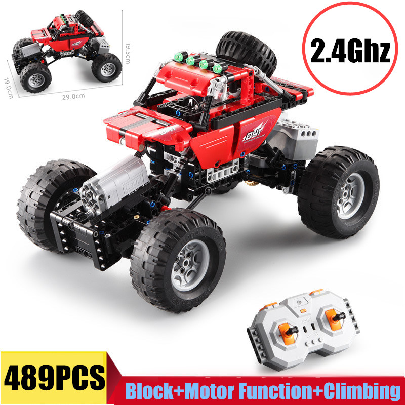New 2.4Ghz RC Car Off Road Racing Motor Power Function Fit Legoings Technic City Building Blocks Bricks Boys Gift Toys C51041-in Blocks from Toys & Hobbies    1