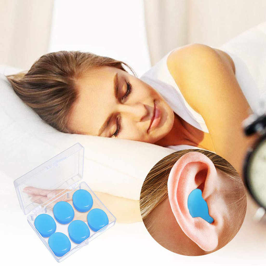 Bouchons doreilles KostaTech 5 paires avec deux petites bo/îtes bouchons doreille souples en silicone pour lire dormir et nager Rose