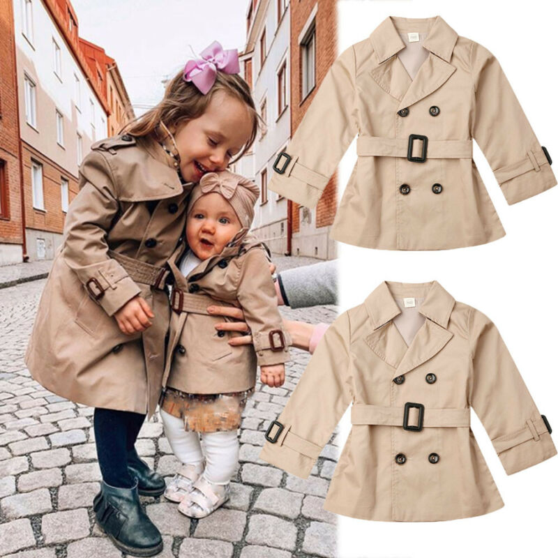 Infant Child Kid Baby Girls Thicken Plaid Coat Jacket Shorts Outfits Clothes Set