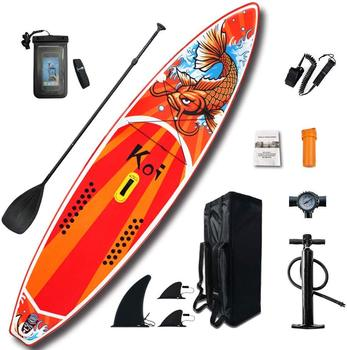 Inflatable Stand Up Paddle Board Sup-Board Surfboard Kayak Surf set 11'*33''*6'' with Backpack,leash,pump,waterproof bag,fins high quality paddle board bag stand up paddle bag hot sale sup paddle bag paddle surf