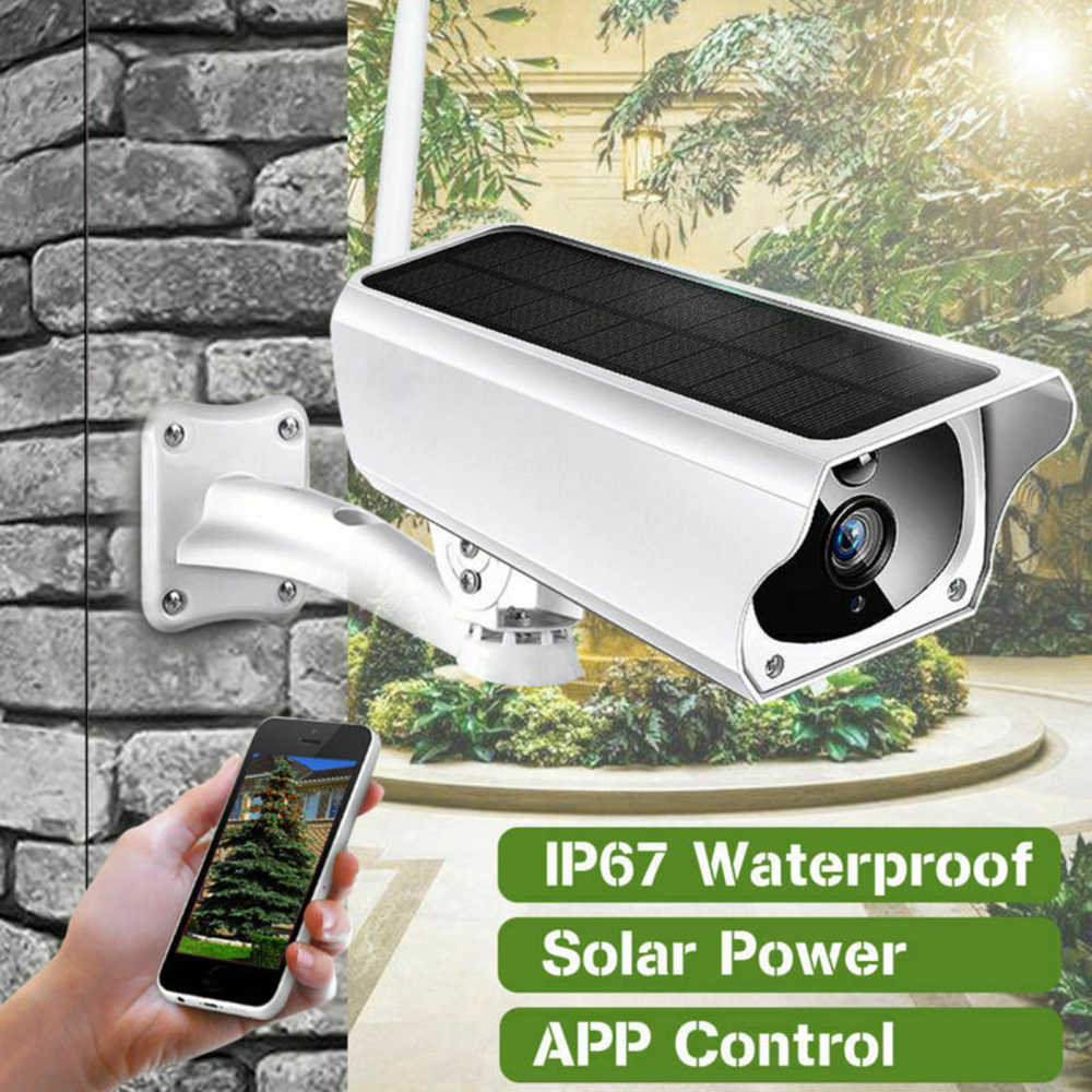 Solar Power Battery Powered Gratis Cloud Storage 1080P Wifi Ip Camera 4X Zoom 2-Weg Audio Draadloze Outdoor pir Bewegingsdetectie