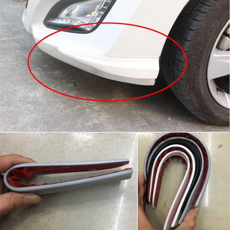 2 Pcs 6D Karbon Spoiler Mobil Bumper Strip Stiker untuk Skoda Octavia A5 A7 Kodiaq Luar Biasa 2 Cepat Fabia 1 porsche 911 Cayenne Macan