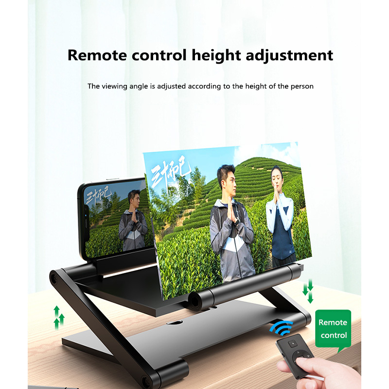 8 Inch Folding 3D Screen Mobile Phone Amplifier Magnifier Cellphone Holder Mobile Phone Screen Amplifier NEW