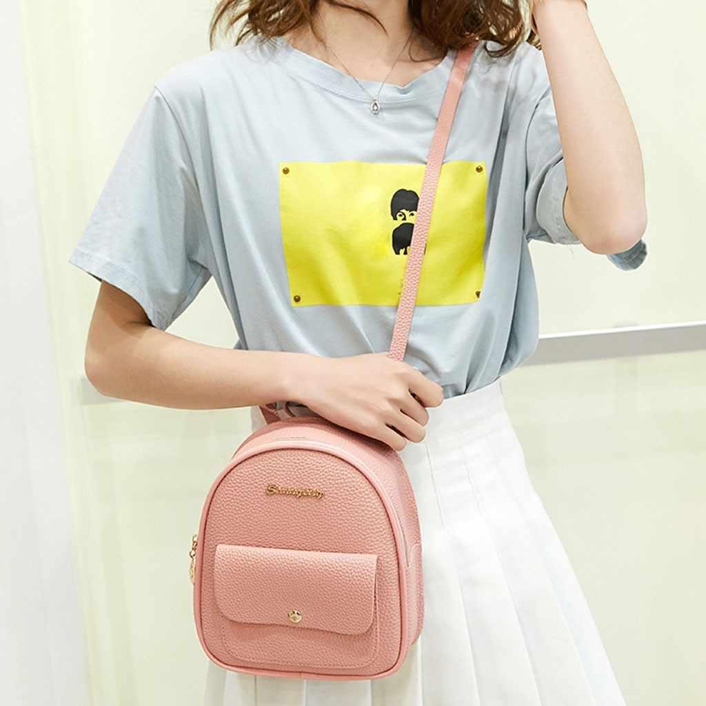 Mini sırt çantası kadın pu deri omuz çantası genç kız için çocuklar çok fonksiyonlu küçük sırt çantası kadın bayanlar okul sırt çantası #10