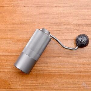 Image 5 - 50 مللي متر طاحونة القهوة الألومنيوم دليل طاحونة القهوة الفولاذ المقاوم للصدأ لدغ طاحونة مخروطي القهوة الفول ميلر