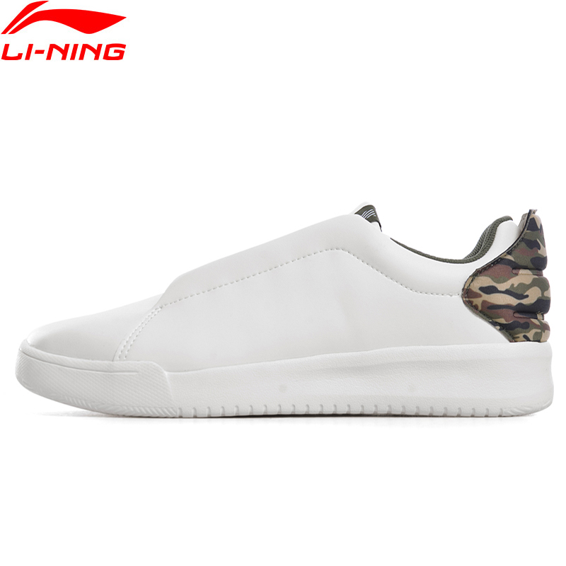 Li-Ning Men's Sports Life Lifestyle Shoes Breathable White Sneakers Fitness LiNing Li Ning Comfort Sport Shoes GLKN007 YXB175