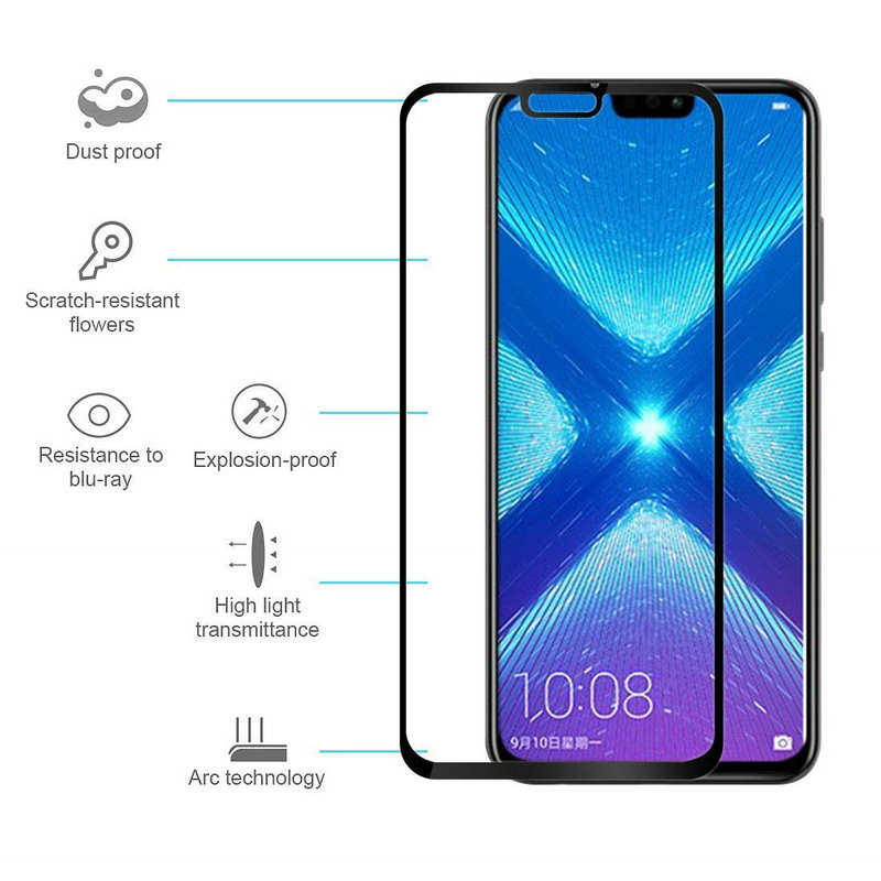 Phone Screen Protector for Honor 20 Lite Glue Tempered Glass on the for Honor 10 View 20 9D Protective Glass Huawei 10i 20i Film