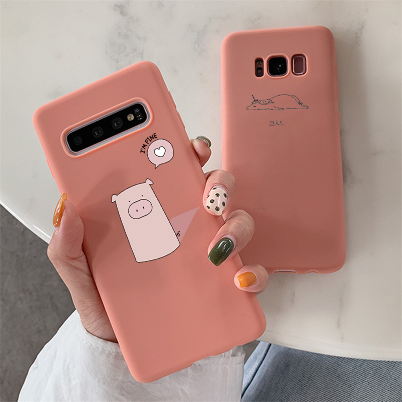 Cartoon Soft TPU Case For <font><b>Samsung</b></font> Galaxy Note 8 9 10 5 J3 J5 J7 Prime A5 <font><b>2016</b></font> 2017 J4 J6 J8 A6 Plus A8 <font><b>A9</b></font> A7 2018 Flower Cover image