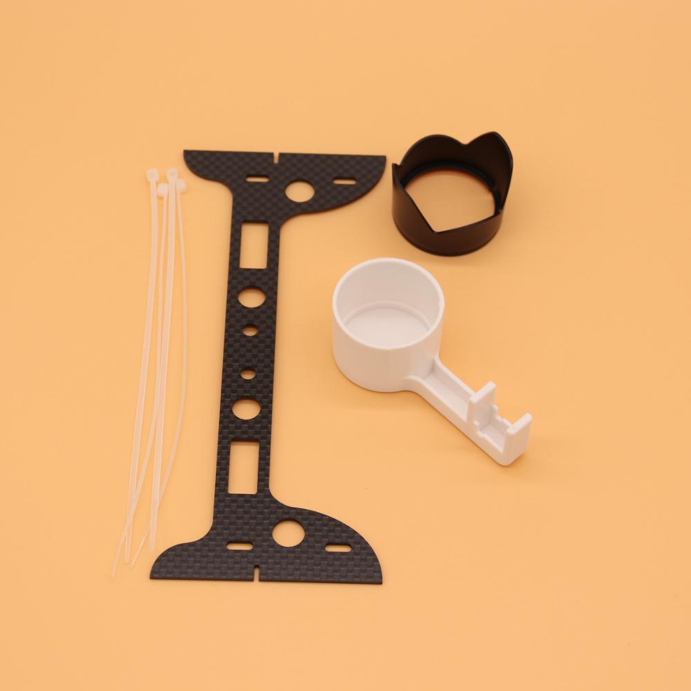 3 Pcs Phantom 3 Drone Camera Lens Cover Stabilizer Bracket Sun Cover Carbon Fiber Protection Plate