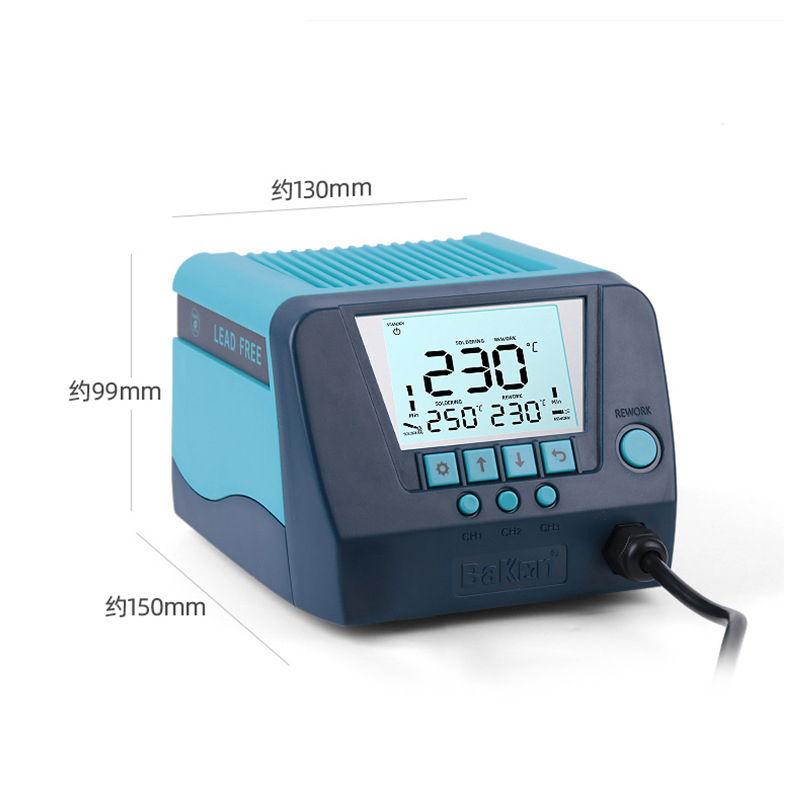 Tools : BK60 BK90 Lead-free Soldering Station 60 90W High Power Large Screen Digital Display Constant Temperature Soldering Station