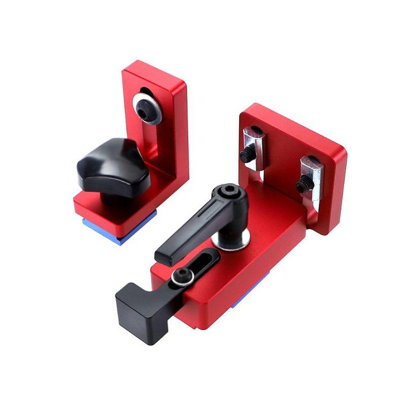 35/45 T-Slot Track Stop Sliding Miter Gauge Connector Retainer Chute Locators