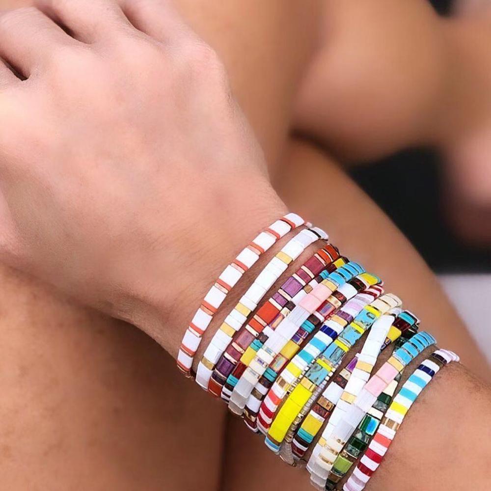Go2boho Bracelet For Women Tila Beads Bracelets Gift Pulseras Mujer Moda 2020 Japan Miyuki Beads Rainbow Jewelry wholesale(China)
