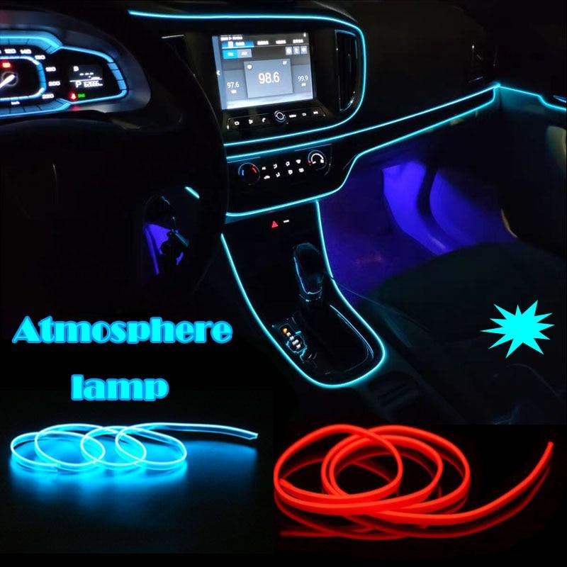 EL Wire 8 мм светящийся неоновый автомобильный светильник s для танцевальной вечеринки декоративная лампа для автомобиля светильник гибкие EL Wire лампы веревка трубка Светодиодная лента с драйвером DC12V