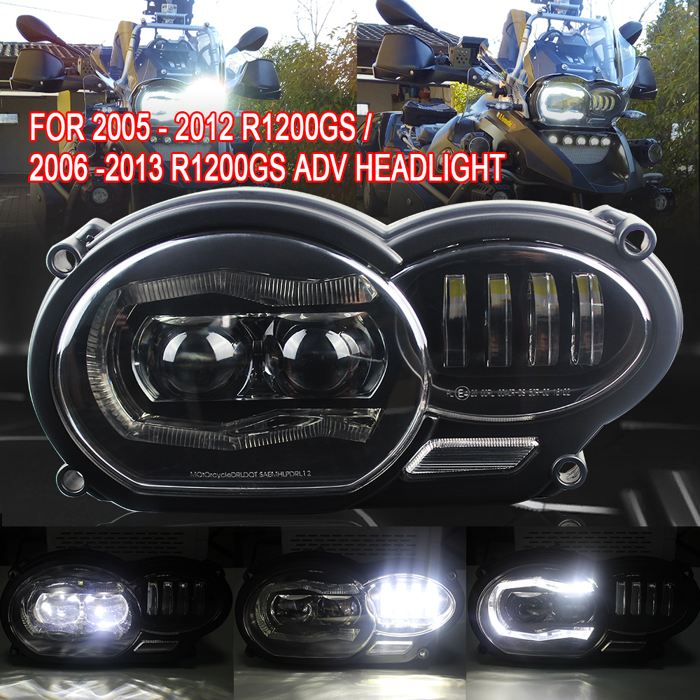 Motorcycle Led Headlight 110W  High/Low Beam Day Light For BMW R1200GS R1200 GS Adv 2004-2012