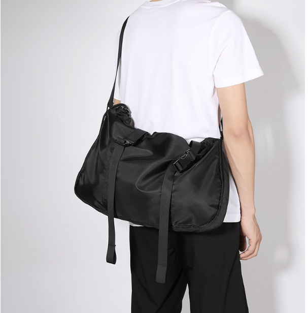 Casual Fashion Tooling Style Shoulder Bag Mens Light Casual Commuter Cloth Bag Black Outgoing Work Bags Bolso Hombre DF348
