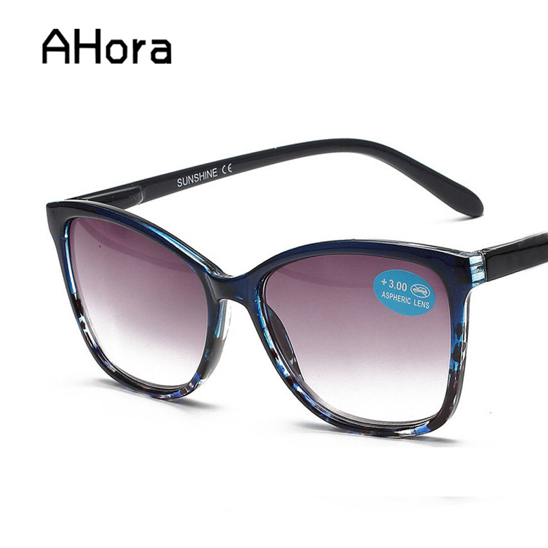 Ahora Floral Sun Reading Glasses Women Brown Lens Sunglasses Prebyopia Spectacles Eyeglasses Eyewear With Diopter +1.0to+4.0