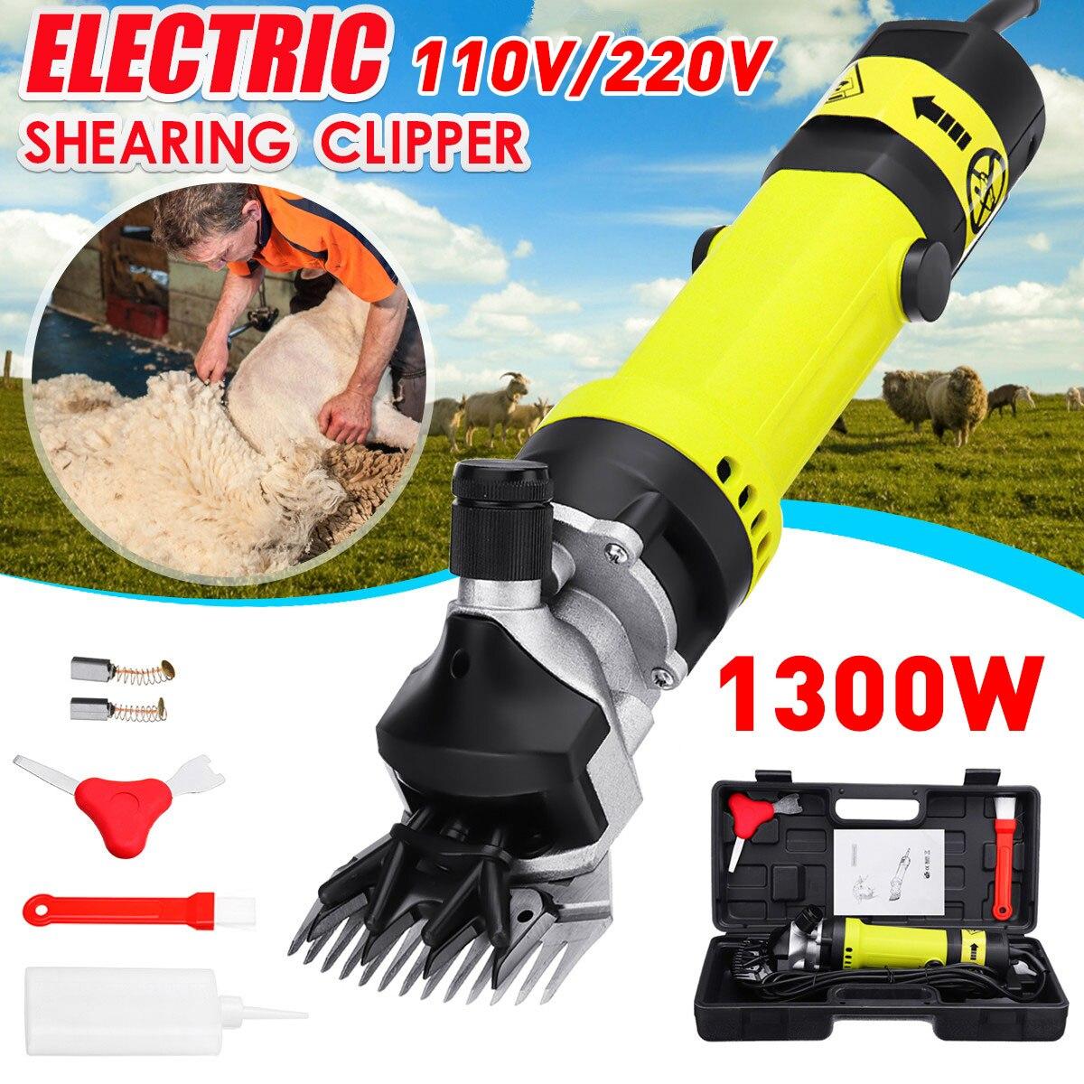 Dirllpro 1300W Electric Sheep Pet Hair Clipper Shearing Kit Shear Wool Cut Goat Pet Animal Shearing Supplies Farm Cut Machine