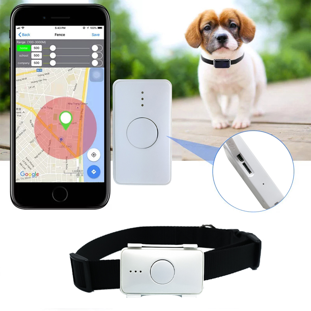 Smart Pet GPS Tracker LK105B Dog Cat Collar Waterproof and High Temperature Resistant Geofence GPS Mini GPS Locator Dog FREE APP