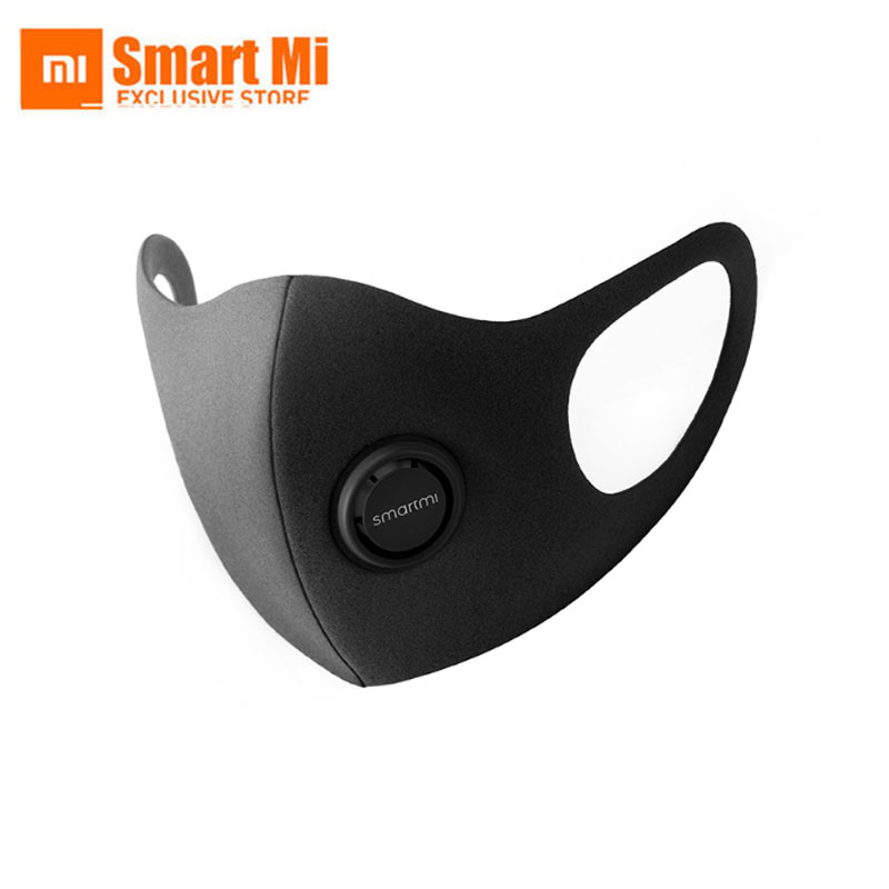 Stock Xiaomi SmartMi PM2.5 Face Mask N95 / KN95 Purely Anti-Haze Adjustable Ear Hanging Fashion 3D Design Light Breathable Mask
