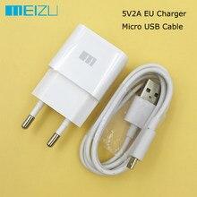 Original meizu usb carregador 5v 2a ue parede carga adaptador de energia 100cm micro usb data cabo para mei zu m6s m5s m6 m3 m5/m5 nota